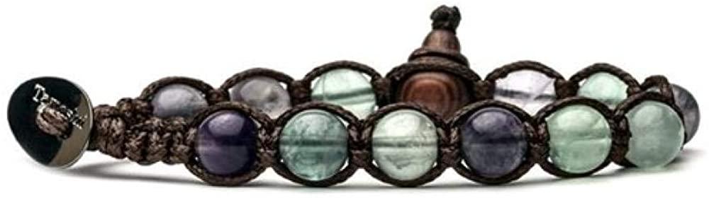 Bracciale originale tibetano Tamashii realizzato con pietre naturali FLUORITE