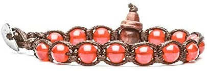 Bracciale tamashii nuovo con pietre piccole da 6 mm Rosso Passione BHS601-124