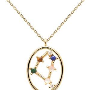 PDPAOLA - Collana Capricorno - Argento Sterling 925 Placcato in Oro 18 carati - Gioielli per Donna