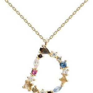 PDPAOLA - Collana Lettera D - Argento Sterling 925 Placcato in Oro 18 carati - Gioielli per Donna