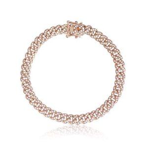 bracciale mabina argento 925 rosa 533333-s chiusura cassettina con zirconi